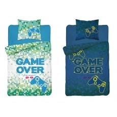 SINGLE DUVET SET 140 X 200 CM FLUO GAME OVER 3349A