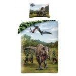 SINGLE DUVET SET 140 X 200 CM JURASSIC WORLD JW-21BL