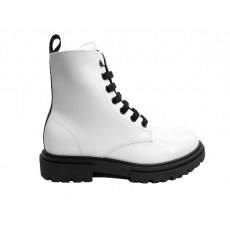 TOMMY HILFIGER LACE-UP BOOT WHITE