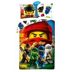 SINGLE DUVET SET 140 X 200 CM LEGO NINJAGO LEG-895BL