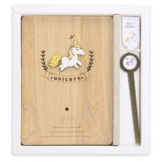 WOODEN UNICORN NOTEBOOK 128 SHEETS