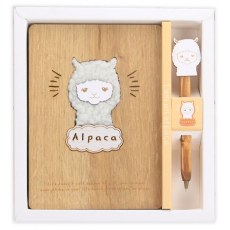 WOODEN ALPACA NOTEBOOK 128 SHEETS