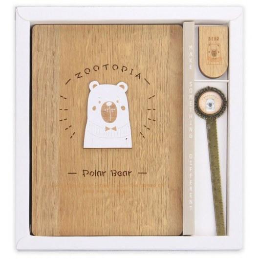 WOODEN BEAR NOTEBOOK 128 SHEETS