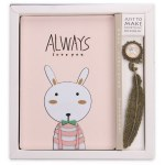 WOODEN BUNNY NOTEBOOK 128 SHEETS