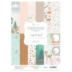 BLOCK OF CREATIVE PAPERS WITH CUTTING ELEMENTS MAGICAL FOREST 20 SHEETS