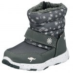 SNOW SHOES KANGAROOS SNOWRUSH STEEL GREY/FROST PINK