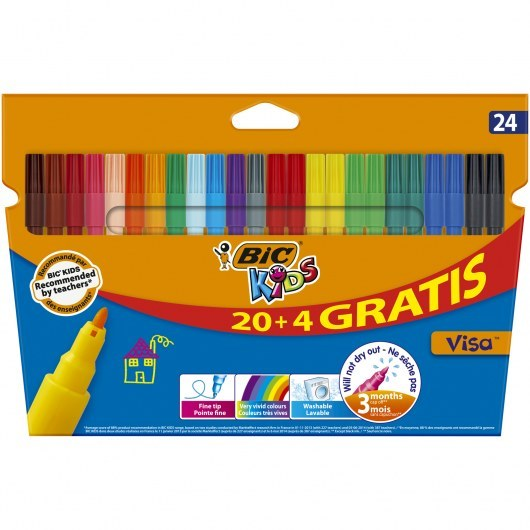 BIC KIDS PENS VISA 24 COLOURS