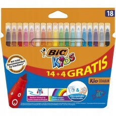 BIC KIDS PENS KID COULEUR 18 COLOURS