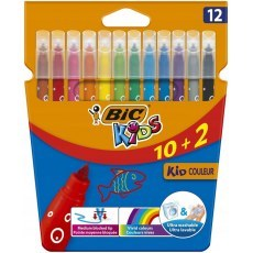 BIC KIDS PENS KID COULEUR 12 COLOURS