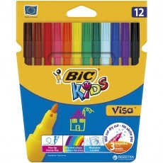 BIC KIDS PENS VISA 12 COLOURS