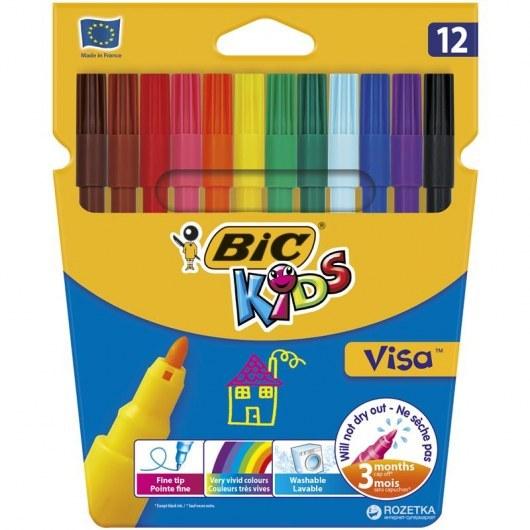 BIC KIDS PENS VISA 12 COLOURS
