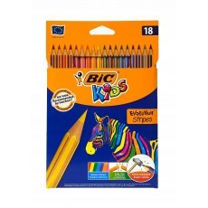 BIC KIDS PENCILS ECO EVOLUTION STRIPES 18 COLOURS