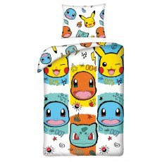 SINGLE DUVET SET 140 X 200 CM POKEMONS POK-277BL