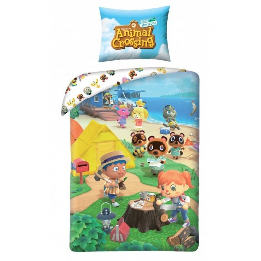 SINGLE DUVET SET 140 X 200 CM ANIMAL CROSSING AMC-001BL