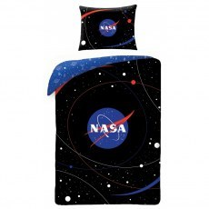 SINGLE DUVET SET 140 X 200 CM NASA NS-4059BL