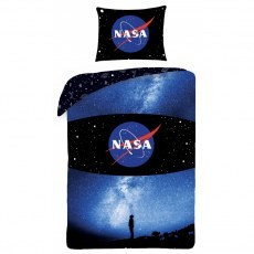 SINGLE DUVET SET 140 X 200 CM NASA NS-4061BL