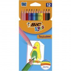 BIC KIDS PENCILS TROPICOLORS 12 COLOURS