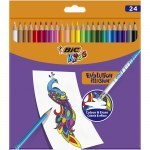 BIC KIDS PENCILS EVOLUTION ILLUSION 24 COLOURS