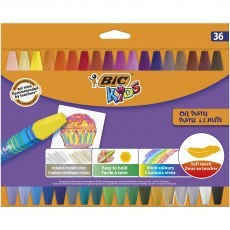 BIC KIDS OIL PASTEL 36 COLOURS