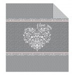 DOUBLE-SIDED QUILTED BEDSPREAD 170 X 210 CM I LOVE YOU