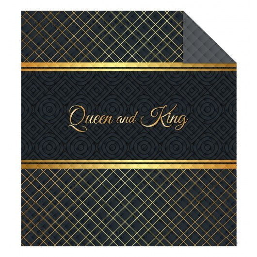 DOUBLE-SIDED QUILTED BEDSPREAD 170 X 210 CM QUEEN AND KING