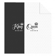 DOUBLE-SIDED QUILTED BEDSPREAD 220 X 240 CM KING QUEEN