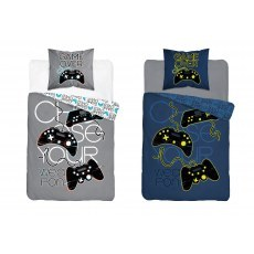SINGLE DUVET SET FLUO 160 X 200 CM GAME OVER 3360A