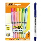 BIC HIGHLIGHTER GRIP COLLECTION 12 COLOURS