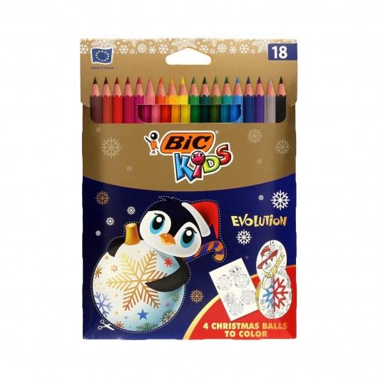 BIC KIDS PENCILS EVOLUTION CHRISTMAS BALLS 18 COLOURS
