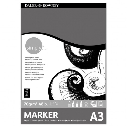 DALER-ROWNEY BLEEDPROOF PAPER A3 SIMPLY 29,7 X 42,0 CM