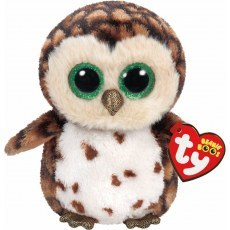TY BEANIE BOO'S BROWN OWL SAMMY 24 CM