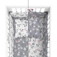 BABY BEDDING SET + BUMPER MAYAMOO 90 X 120 CM MERRY RAINS 2948CD