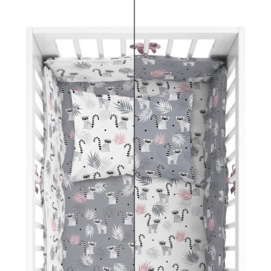 BABY BEDDING SET + BUMPER MAYAMOO 90 X 120 CM MERRY RAINS 2948CD