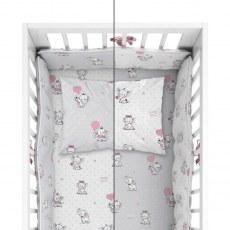 BABY BEDDING SET + BUMPER MAYAMOO 90 X 120 CM ELEPHANT MILUSES 2944AB