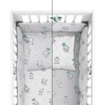 BABY BEDDING SET + BUMPER MAYAMOO 90 X 120 CM ELEPHANT MILUSES 2944CD