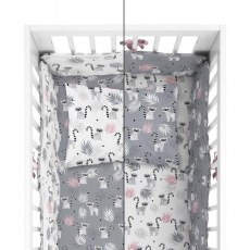 BABY BEDDING SET + BUMPER MAYAMOO 100 X 135 CM MERRY RAINS 2948CD