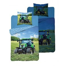 SINGLE DUVET SET 160 X 200 CM FLUO TRACTOR 3282A