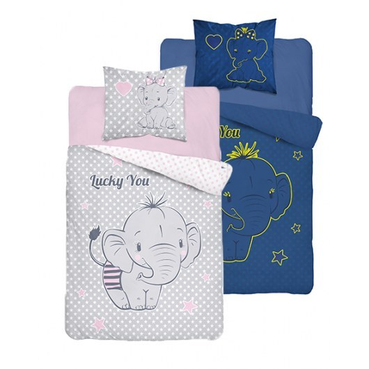 SINGLE DUVET SET 140 X 200 CM FLUO ELEPHANT 3448A