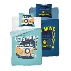 SINGLE DUVET SET 160 X 200 CM FLUO CAR 3450A