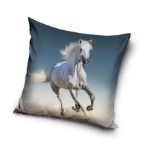 PILLOW CASE 40 X 40 CM WHITE HORSE PNL201054