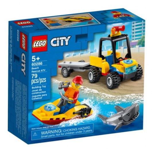 KLOCKI LEGO CITY PLAŻOWY QUAD RATUNKOWY 60286