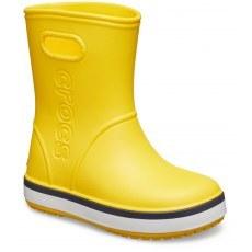 CROCS KIDS CROCBAND™ RAIN BOOT 205827 YELLOW/NAVY