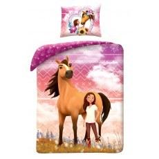 POSCIEL BAWELNIANA 140 X 200 CM SPIRIT HORSES SP-8329BL