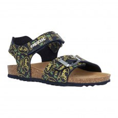 SANDALY GEOX GHITA NAVY/FLUO YELLOW