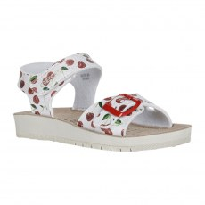 SANDALS GEOX COSTAREI SILVER/RED