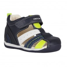 SANDALY GEOX EACH BABY BOY NAVY/FLUO YELLOW