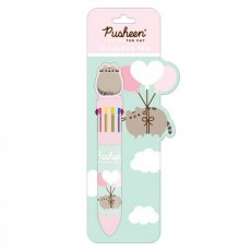 PUSHEEN SIMPLY 10 COLOUR PEN WITH TOPPER