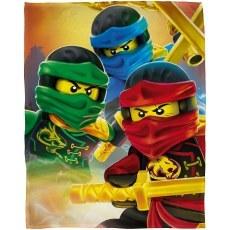 FLEECE BLANKET 100 X 150 CM LEGO NINJAGO MASTERS OF SPINJITZU