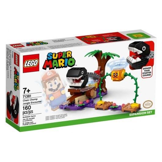 KLOCKI LEGO SUPER MARIO SPOTKANIE Z CHAIN CHOMPEM W DŻUNGLI 71381