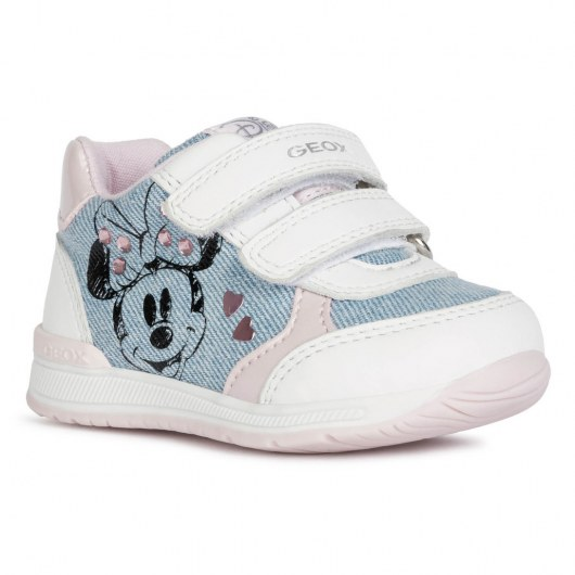 SNEAKERSY GEOX RISHON LIGHT JEANS/WHITE DISNEY MINNIE MOUSE